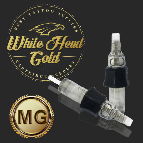 Cartucho com Agulha WHITE HEAD GOLD 0,35mm Ref.11M-12.