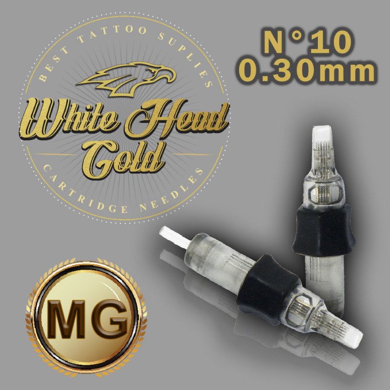 Cartucho com Agulha WHITE HEAD GOLD 0,30mm Ref.09M-10