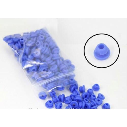 Gromets de borracha, cor azul, pacote com 100 unidades Ref.5072-AZUL