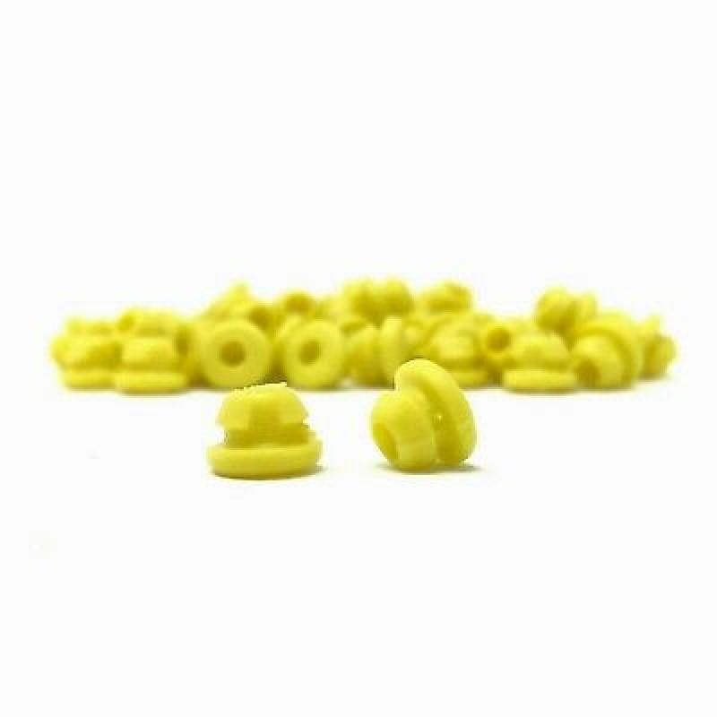 Gromets de borracha, cor preto, pacote com 100 unidades Ref.5072-AMARELO